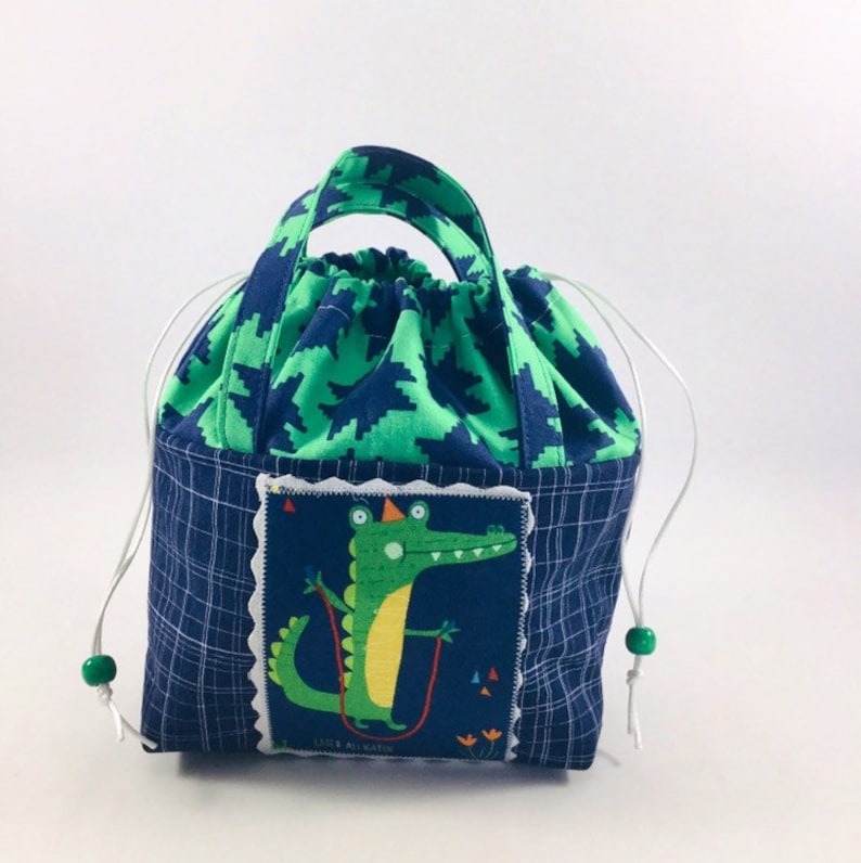 Alligator drawstring tote bag Kid\u2019s tote