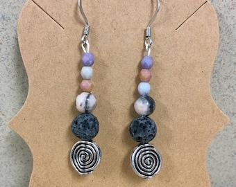 Hypoallergenic Aromatherapy Earrings, Essential Oil Diffusing Earrings, Diffusing Earrings, Lava Earrings, Lava Bead Earrings