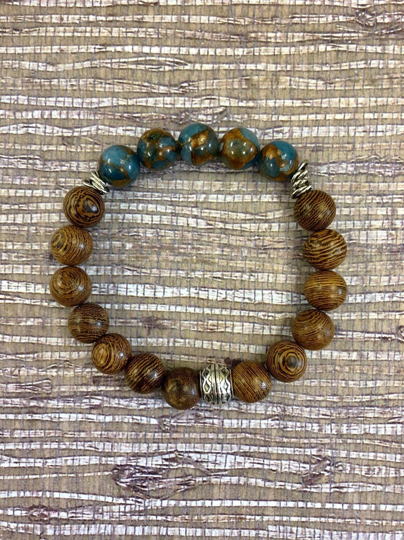 Teacher Gift Aquamarine Bracelet Gift For Mom Aquamarine Bracelet for Women Healing Bracelet Aquamarine Mosaic Quartz Gift For Sister