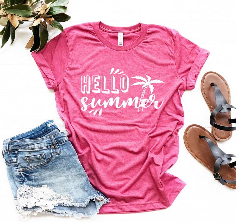 5022b829c82 Hello summer Shirt summer shirt beach shirt gift shirt