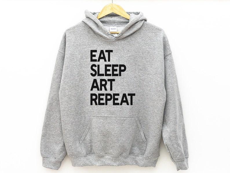Gifts for Artists,Graffiti artist Painter Hoodie Art Teacher Hoodie,Graffiti artist Eat Sleep Art Repeat Hoodie,Artist Hoodie,Artist gift