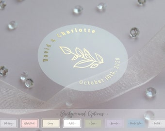 Frosted Wedding Stickers