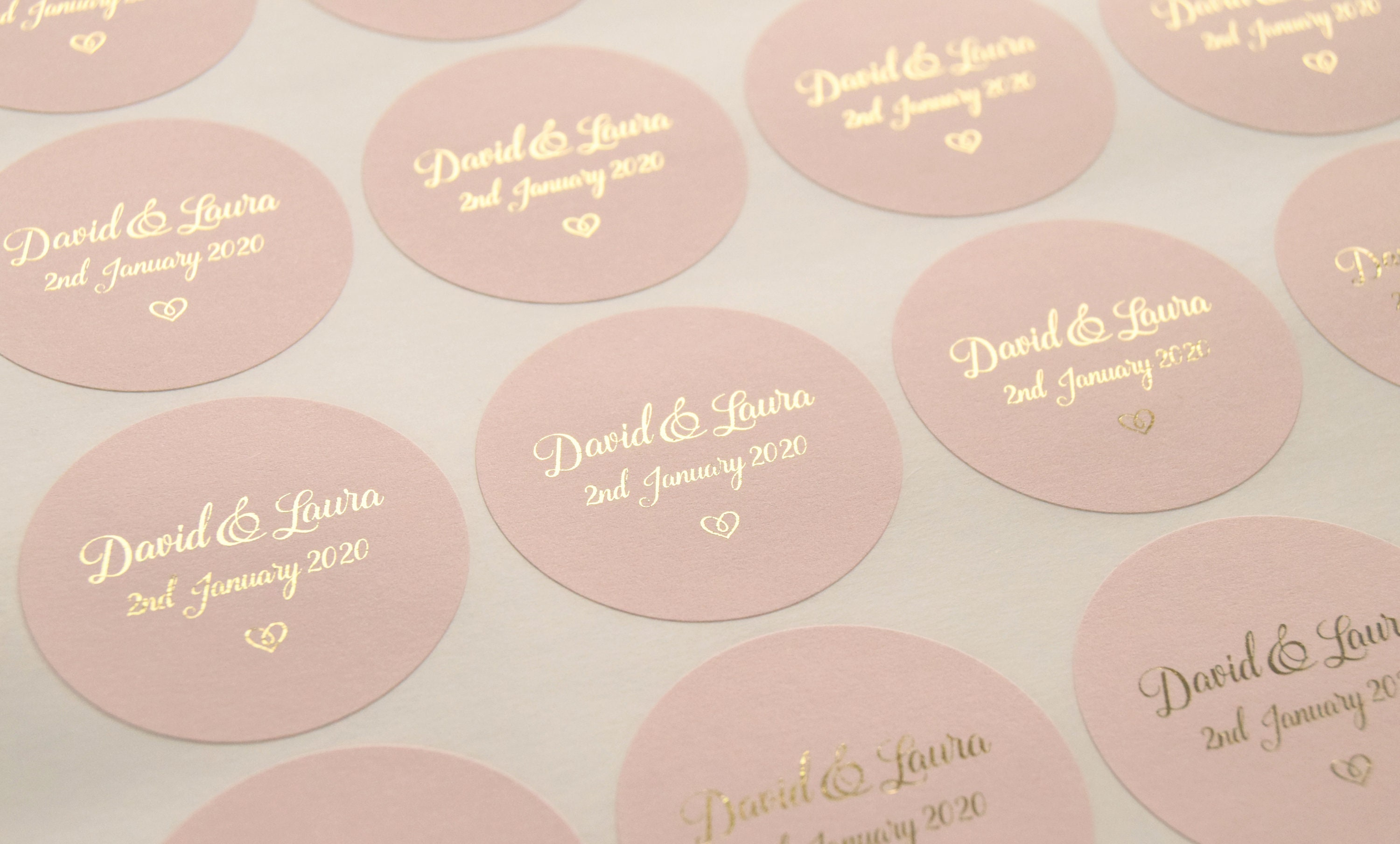 Foil wedding stickers rose gold wedding stickers blush favour stickers wedding labels custom stickers personalised stickers d4