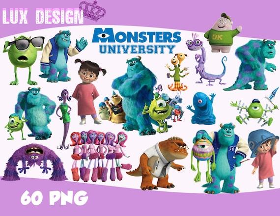 60 Monsters University Inc Clipart Png Images 300dpi Etsy