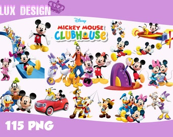 115 Mickey Mouse Clubhouse ClipArt- PNG Images 300dpi Digital, Clip Art, Instant Download, Graphics transparent background Scrapbook