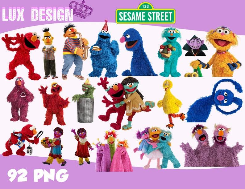 92 Sesame Street ClipArt PNG Images 300dpi Digital Clip Art