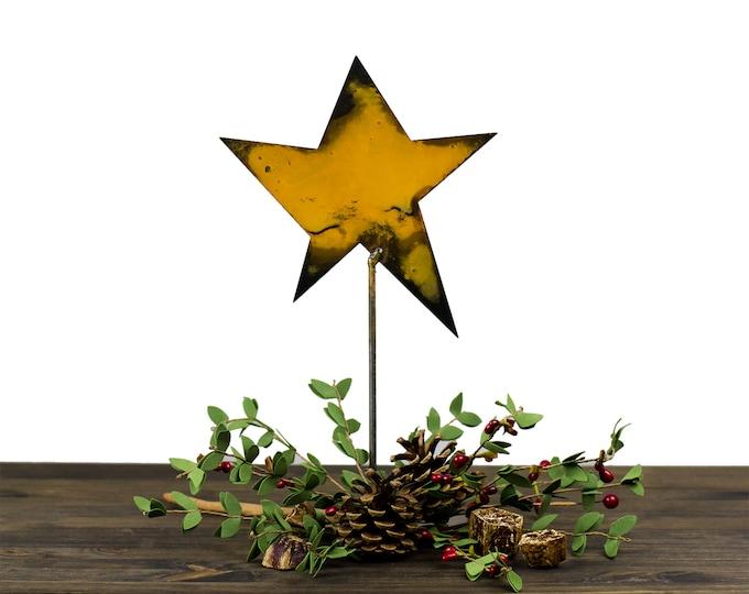 Metal Star Christmas Decoration Rustic Holiday Decor Metal Etsy
