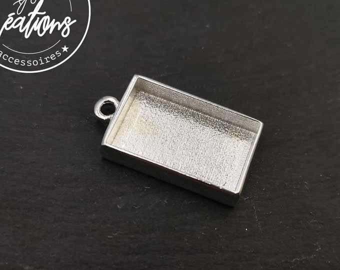 13x2x4mm tin tin pendant holder silver finish 925 - Made in france