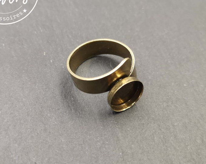 New - 6mm wide double ring holder with brass finish brass bowl