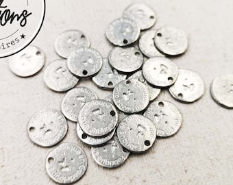 """Tin Medal - Round - 10mm """"Made in Guadeloupe"""" made in France"""