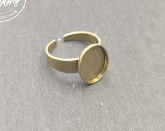 8x10X1.5mm brass finish brass child ring