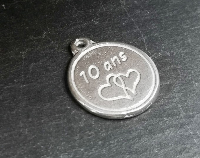 Tin Medal - 10 years double hearts