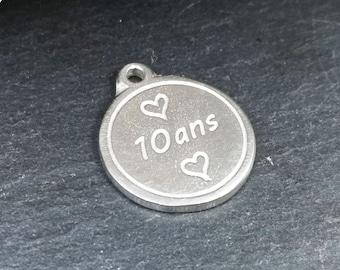 Tin Medal - Tin Wedding. 10 years old
