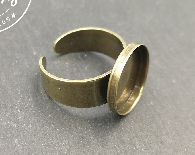 Round ring support - brass finish brass - made in France