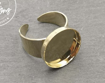 Round ring support - M-size - brass gold finish - Made in France