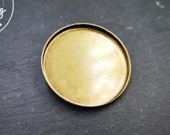 Brass-finished brass brooch '35x2.5mm'