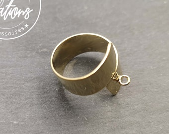 Double ring support 10mm wide with gold finish brass ring