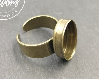 Ring with oval bowl 13x18x4,5mm brass brass finish