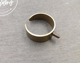 Smooth ring support 8mm wide with brass screws finish brass