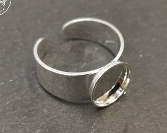 Round ring with bowl - 10x1.5mm brass finish silver 925 - adult