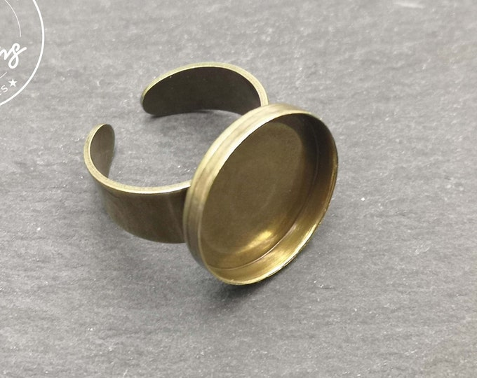 Round ring support - brass finish brass - Size M - Made in France