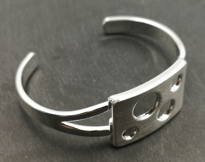 End of stock - rectangle bracelet holder with Bowl 5/6/8 / 10mm - silver