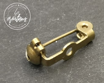 15mm brass-finished brass brooch support