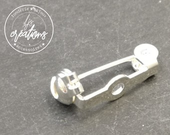 Sticky pin holder - 18mm brass silver finish 925