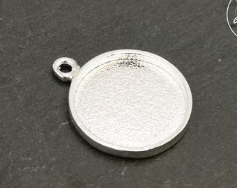 Round pendant - silver finish 925 - Made in France