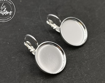 Earrings with sleepers - brass finish silver 925