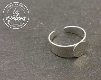 Support ring for fingers with tray ø8mm 925 Silver finish brass