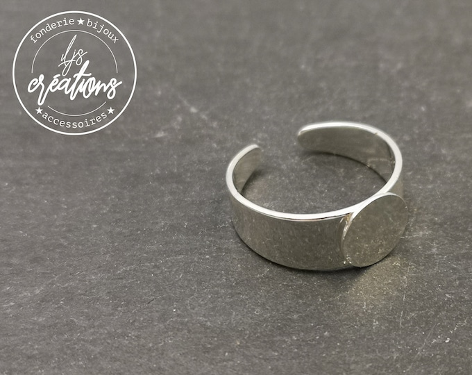 Ring support for fine fingers with 8mm brass tray finish silver 925