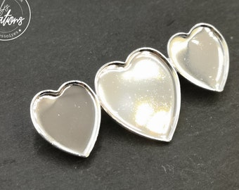 "Brooch ""Multi hearts"" 3 hearts - 16 x 18 and 21x23mm - 925 Silver finish brass"