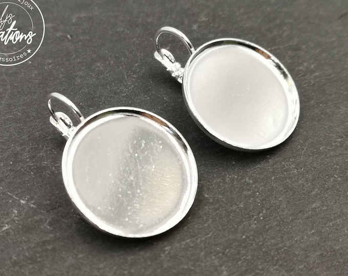 Earrings with sleepers ø20x1mm-brass finish Silver 925-made in France
