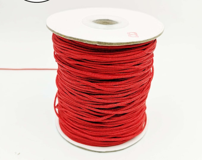 3m red braided cord - 1.5mm