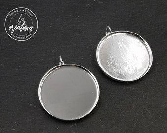 Earrings with lever o35x2, 5mm - 925 Silver finish brass