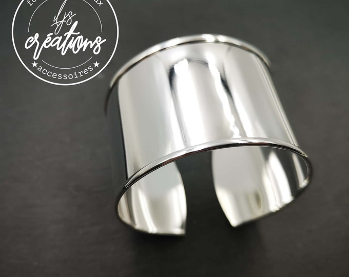 Support for 30mm cuff bracelet - brass finish silver 925