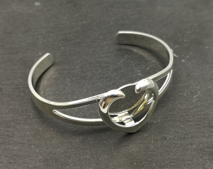 End of stock - holder with tray ø20mm heart bracelet - silver