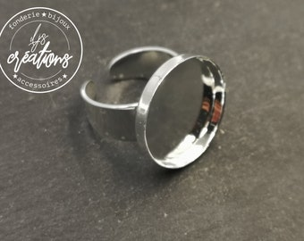 Made in France - Round ring - 20x2.8mm brass silver finish 925 - Made in France