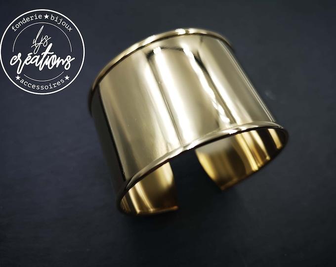 30mm cuff bracelet holder - gold