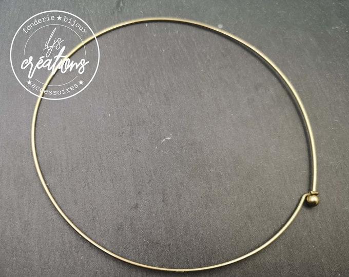 Neck neck ball - 14cm in diameter - Size M - brass finish