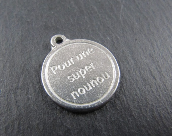 Iron medal white 17mm - for a great nanny