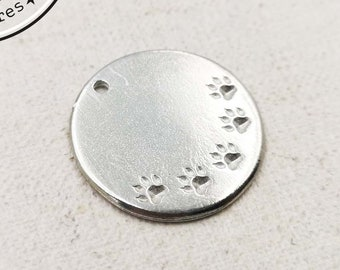 Tin Medal for Dog - '30mm ' - made in France