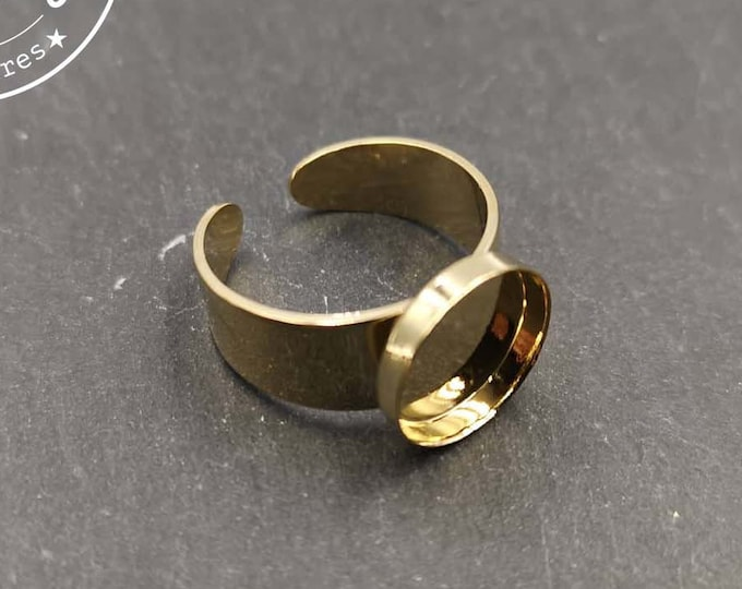 Round ring holder (for adult) '12x2mm brass gold finish