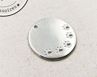 Tin Medal for Dog - '25mm' - made in France