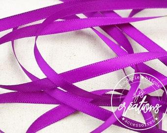 10m - 6mm satin ribbon - Violet