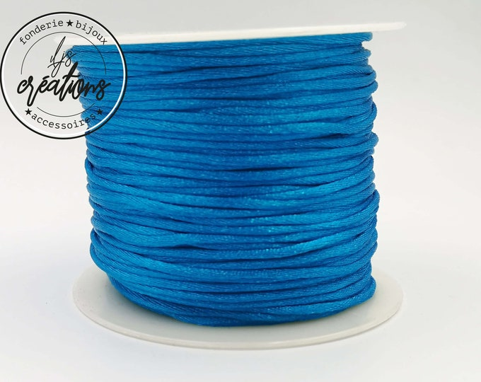 3m string mouse tail - turquoise blue