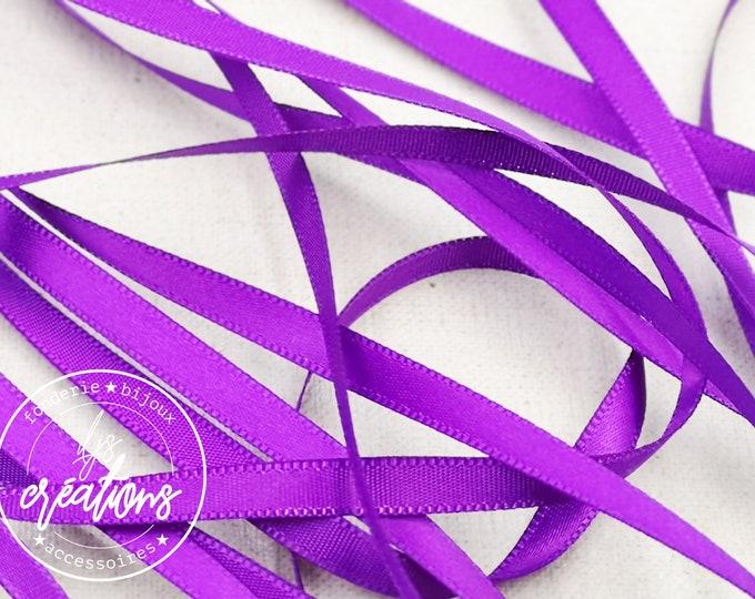 5m - 6mm satin ribbon - Violet