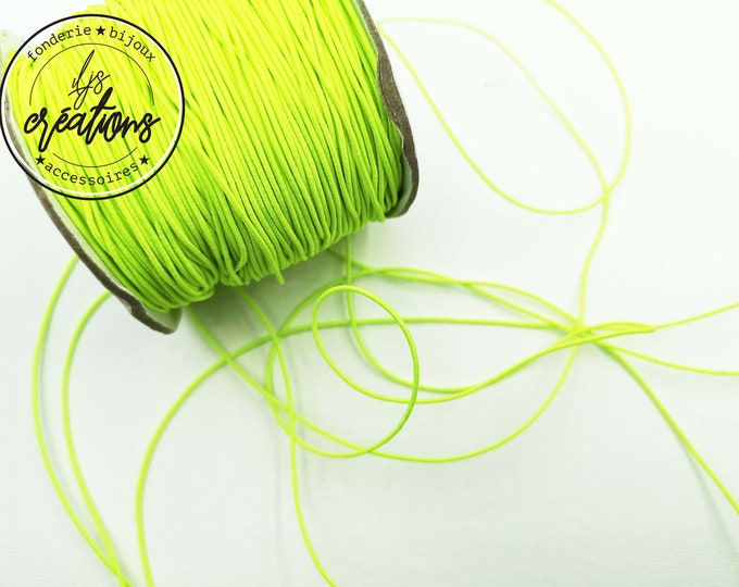 6m elastic cord - Yellow Fluo
