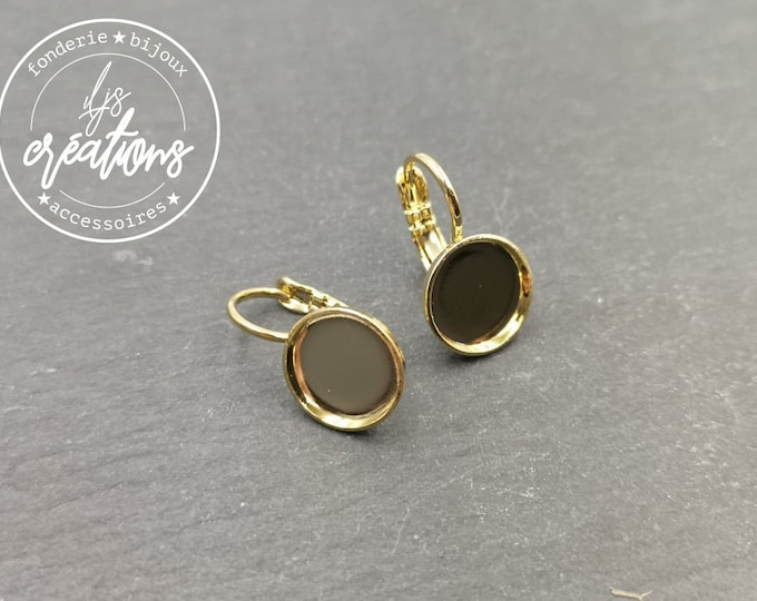 Earrings with sleepers ø10x1mm - brass gold finish